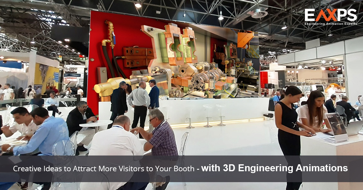 Attract Trade shows Visitors With 3D Engineering Animations