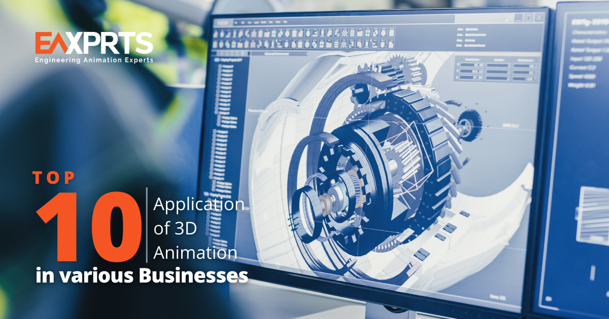 Top 10 Applications of 3D Animation in various Businesses